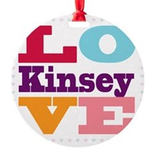 I Love Kinsey Ornament