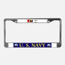 Go Navy Beat Army in Flags License Plate Frame
