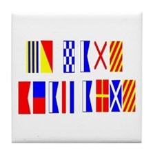 Go Navy Beat Army In Flags Tile Coaster