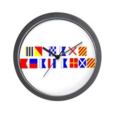 Go Navy Beat Army in Flags Wall Clock