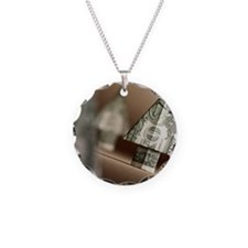 AA018004 Necklace Circle Charm