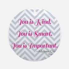 Aibileen Clark Quote Round Ornament