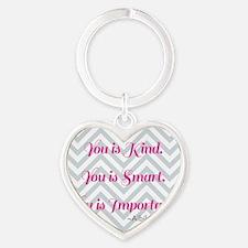 Aibileen Clark Quote Heart Keychain