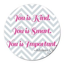Aibileen Clark Quote Round Car Magnet