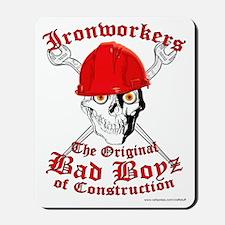 Ironworkers Skull Hardhat, Cross Wrenche Mousepad