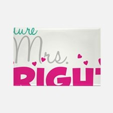 Future Mrs. Right (Grey) Rectangle Magnet