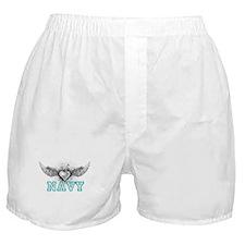 Navy + wings Boxer Shorts