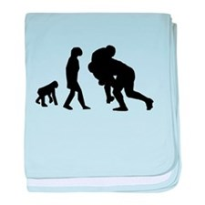 Rugby Tackle Evolution baby blanket