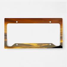 Wavy Sunset License Plate Holder