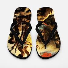 Eugene Delacroix Liberty Flip Flops