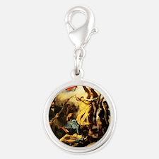 Eugene Delacroix Liberty Silver Round Charm