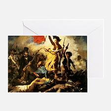 Eugene Delacroix Liberty Greeting Card