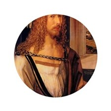 "Albrecht Durer Self Portrait 3.5"" Button"