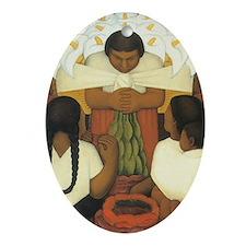 Diego Rivera Oval Ornament