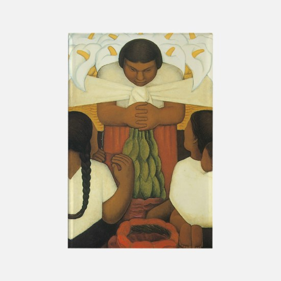 Diego Rivera Rectangle Magnet