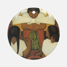 Diego Rivera Round Ornament
