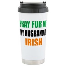 Pray For Me My Husband  Travel Mug