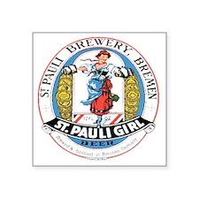 "St Pauli Brewery Square Sticker 3"" x 3"""