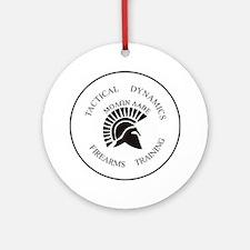 TacDynamics Shield Logo Round Ornament