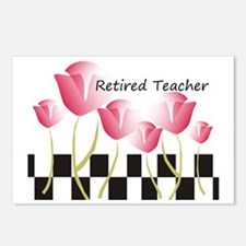 Retired Teacher Pillow 1 Postcards (Package of 8)