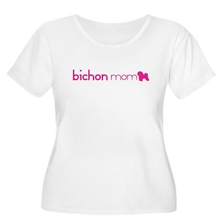 Bichon Mom Women's Plus Size Scoop Neck T-Shirt