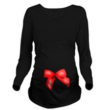Red Ribbon 2 Long Sleeve Maternity T-Shirt