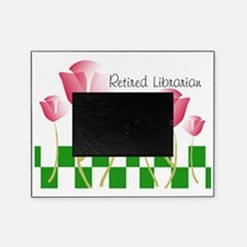 Retired Librarian Pillow 2 Picture Frame