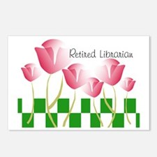 Retired Librarian Pillow  Postcards (Package of 8)