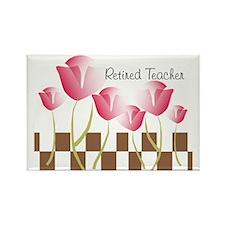 Retired Teacher pillow 2 Rectangle Magnet