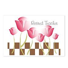 Retired Teacher pillow 2 Postcards (Package of 8)