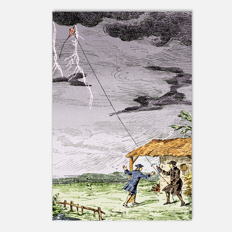 Franklin's lightning expe Postcards (Package of 8)