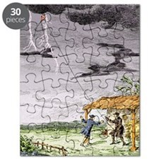 Franklin's lightning experiment, 1752 Puzzle