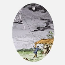 Franklin's lightning experiment, 175 Oval Ornament