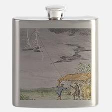 Franklin's lightning experiment, 1752 Flask