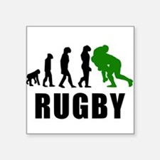 Rugby Tackle Evolution (Green) Sticker