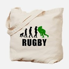 Rugby Tackle Evolution (Green) Tote Bag