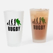 Rugby Tackle Evolution (Green) Drinking Glass
