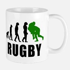 Rugby Tackle Evolution (Green) Mugs