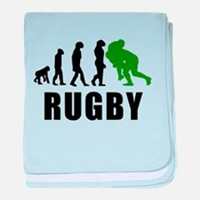 Rugby Tackle Evolution (Green) baby blanket