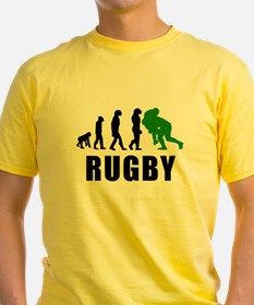 Rugby Tackle Evolution (Green) T-Shirt