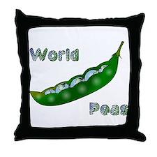 World Peas Throw Pillow