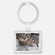 God made cats Landscape Keychain