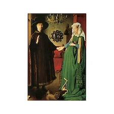 Jan van Eyck The Marriage Rectangle Magnet