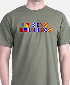 Go Navy Beat Army in Flags T-Shirt
