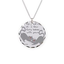 furry babies with paws cat l Necklace