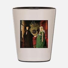 Jan van Eyck The Marriage Shot Glass