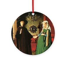 Jan van Eyck The Marriage Round Ornament
