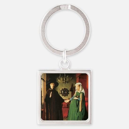 Jan van Eyck The Marriage Square Keychain