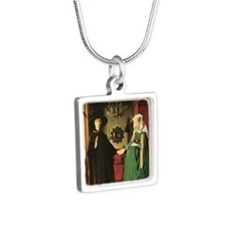 Jan van Eyck The Marriage Silver Square Necklace