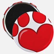 pet paw heart Magnet